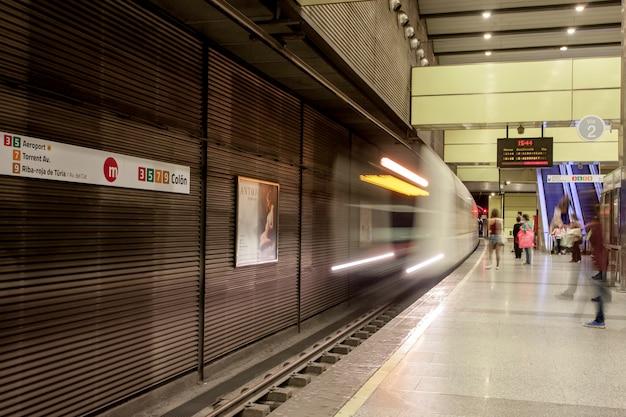 Rail station valencia underground metro
