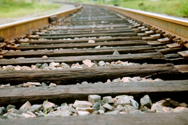 Railroad track, close-up