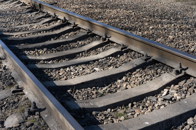 Railroad track on the ground