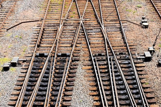철도 트랙과 투표율. 위에서 봅니다.