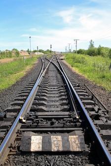 푸른 하늘과 철도