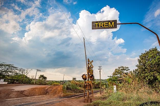 Railtrack crossing the mountains. minas gerais, brazil.