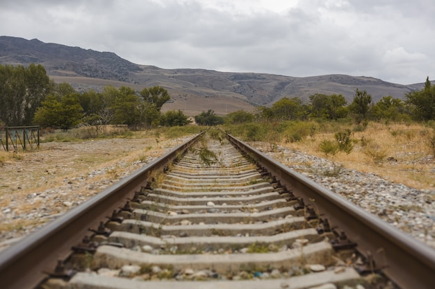 The railway goes to the mountains