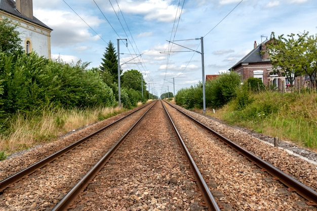 Railway line in the french countryside