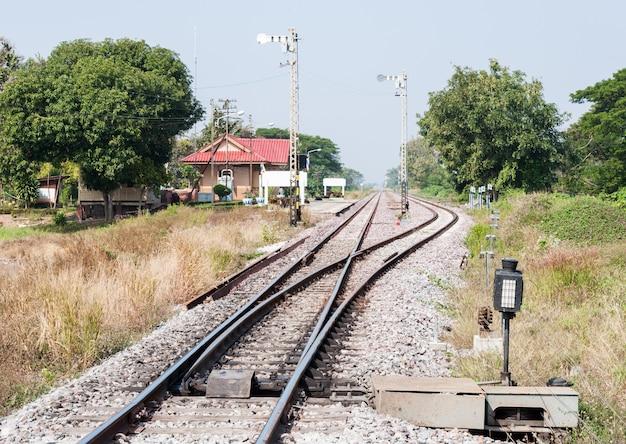 Railway station yard