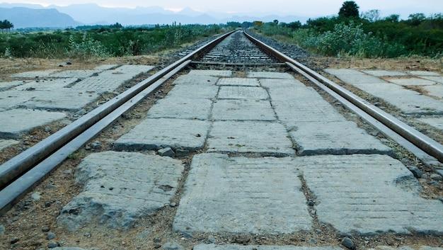 교차로에서 철도 트랙