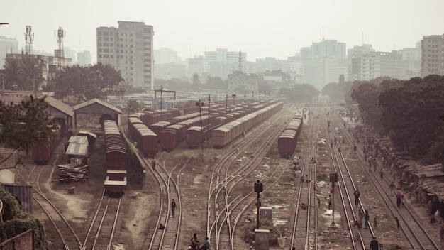 バングラデシュの鉄道線路