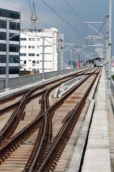 Railway track on sky train