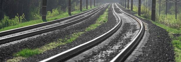線路と電柱