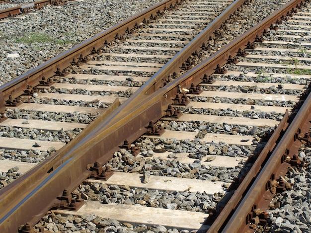 Railway tracks perspective