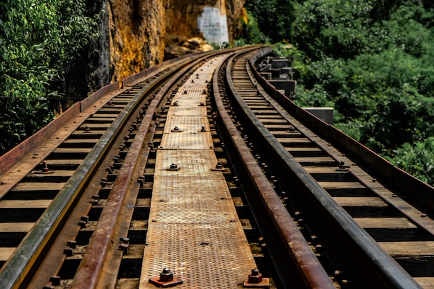 Railway for traveling in thailand