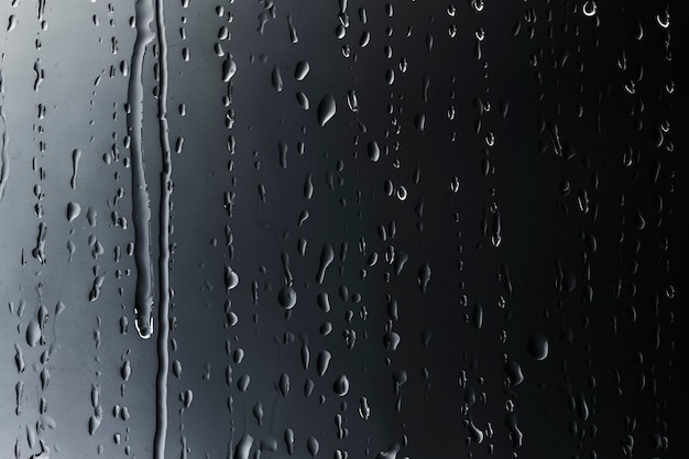 Rain drops on glass textured background