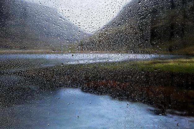 Влияние дождя на фоне природы