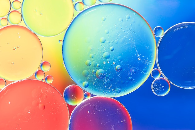 Rainbow abstract bubbles texture
