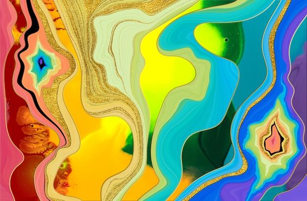 Rainbow abstract pattern. marble imitation texture. stock illustration.