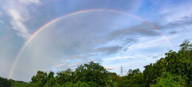 Rainbow after rain.