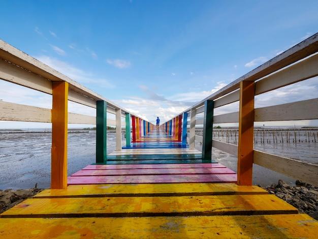 Rainbow bridge and seaside