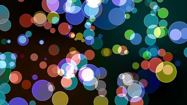 Радужный пузырь божественное измерение боке размытие абстрагируется темно-красный изолированный фон