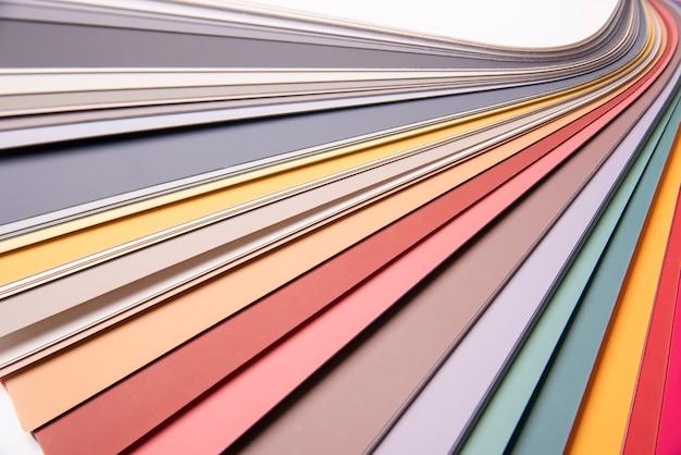Rainbow color palette close up.