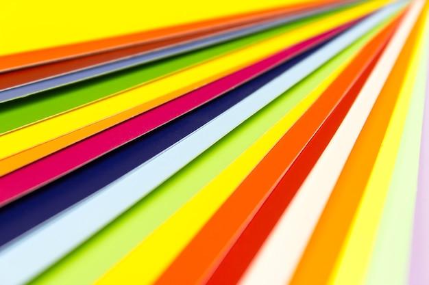 Rainbow color palette. color card palette, colored catalog.