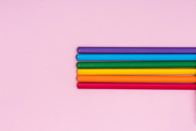 Rainbow colored pencils lgbt