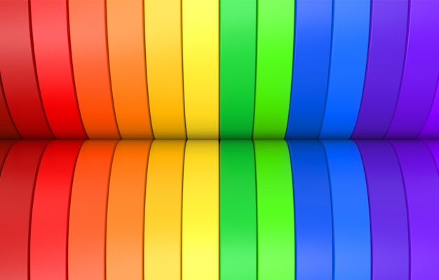 Rainbow colorful lgbt curve panel background