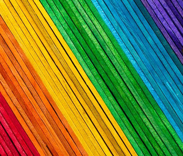 Rainbow colour wood texture background