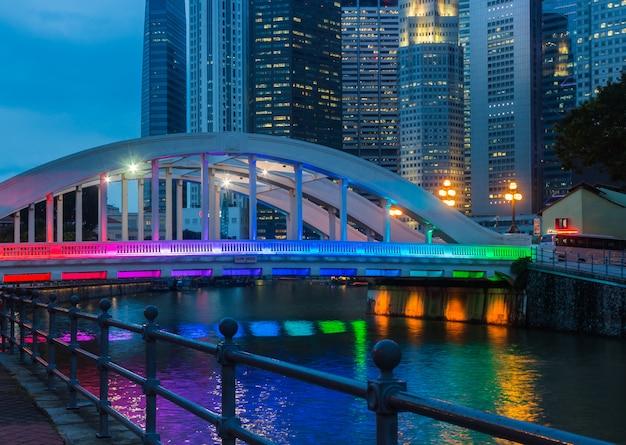 Rainbow coloured bridge