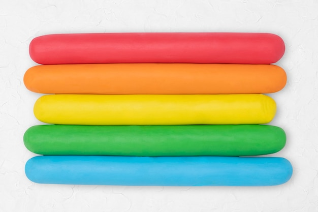 Rainbow dry clay textured colorful graphic creative craft for kids Free Photo