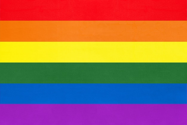 Rainbow flag, symbol of lgbt community.