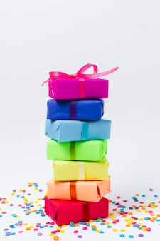 Rainbow gifts for birthday party