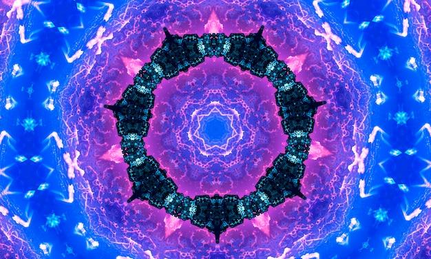 녹색 파란색 보라색 주황색 빨간색과 청록색 색조가 있는 무지개 만화경 배너