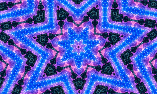Rainbow kaleidoscope banner with green blue purple orange red and turquoise hues
