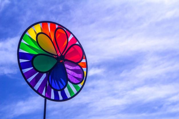 Rainbow lgbt pride spinning pinwheel.