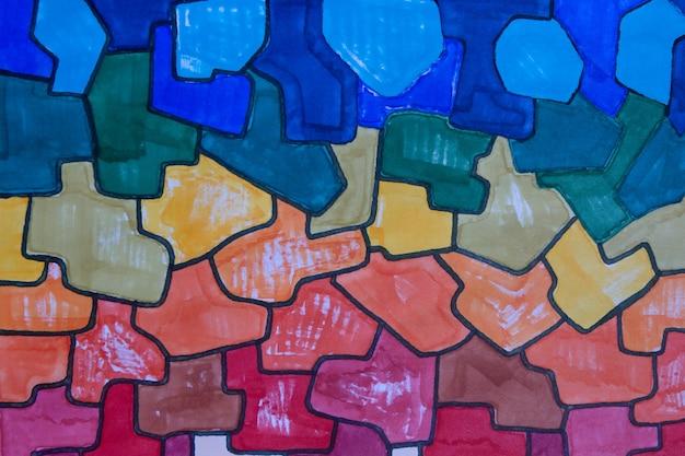 Rainbow marker artwork texture abstract background