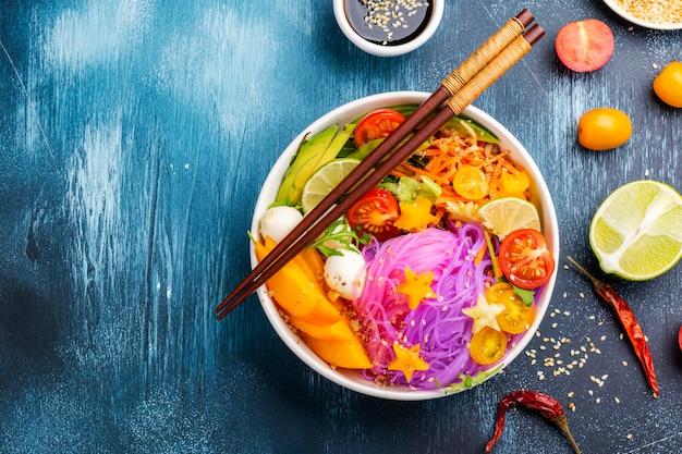 Rainbow noodle, unicorn pasta bowl