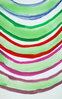 レインボーペイントアーク、水彩カラフルなかわいい手描き。