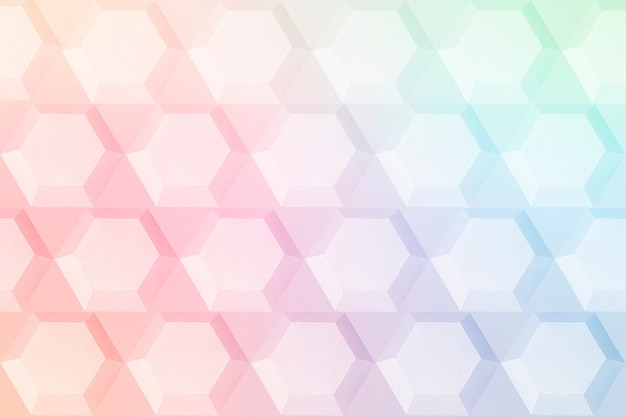 무지개 종이 공예 육각형 무늬 배경