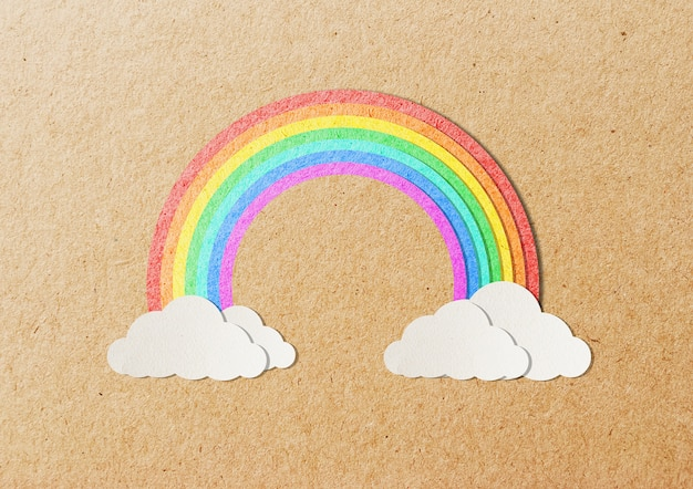 Rainbow. paper cut style