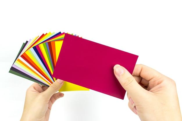 Rainbow sample colors catalogue for colour definition. multicolored catalog.