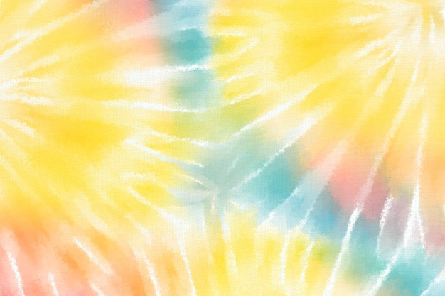 Sfondo arcobaleno tie dye con pittura ad acquerello ricciolo pastello