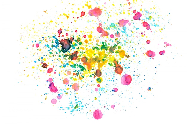Rainbow watercolor stain with color shades paint background