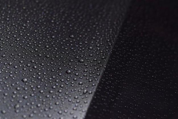 Raindrops on car