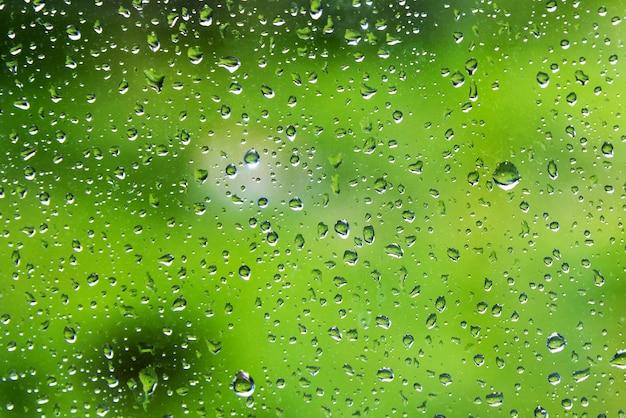 ガラス上の雨滴