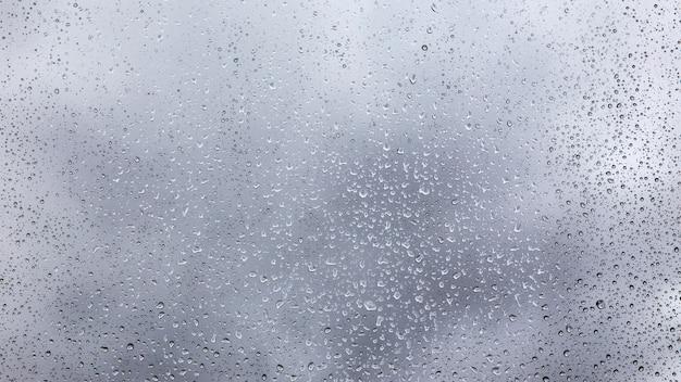 ガラスの雨滴