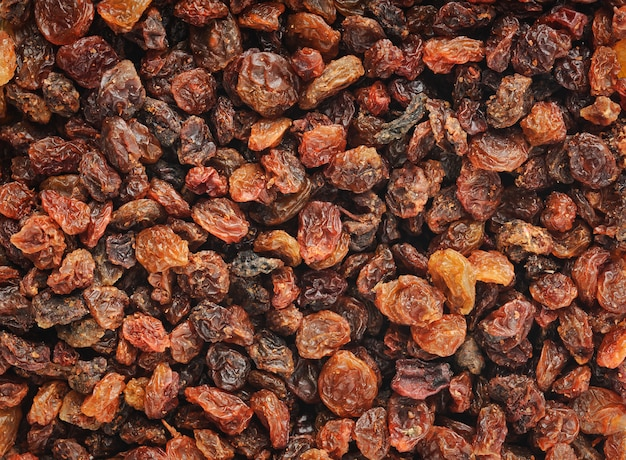 Raisins horizontal background