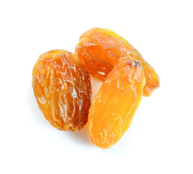 Raisins isolated on white