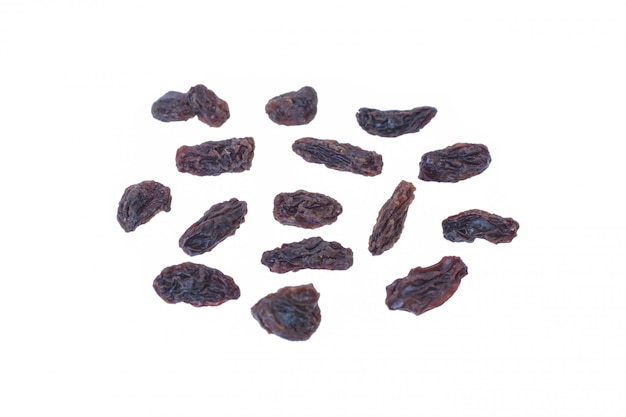 Raisins (sultanas) isolated on white