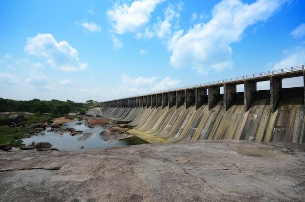 Rajanganaya reservoir at anuradhapura sri lanka