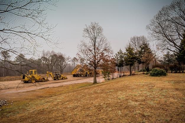 ローリーノースカロライナアメリカ合衆国。舗装機械